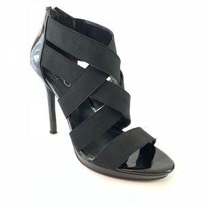BCBG Paris Jajor black sandals size 8 heels pumps